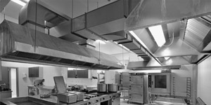 Fume extraction systems in kitchens