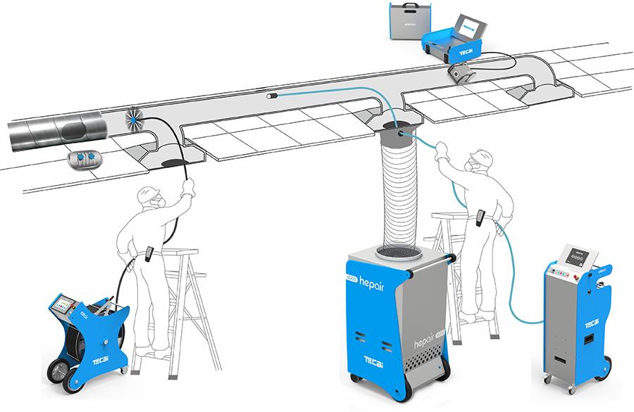 Hepair 6000负压正空吸尘器 - Tecai暖通空调系统清洁设备 - Teinnova